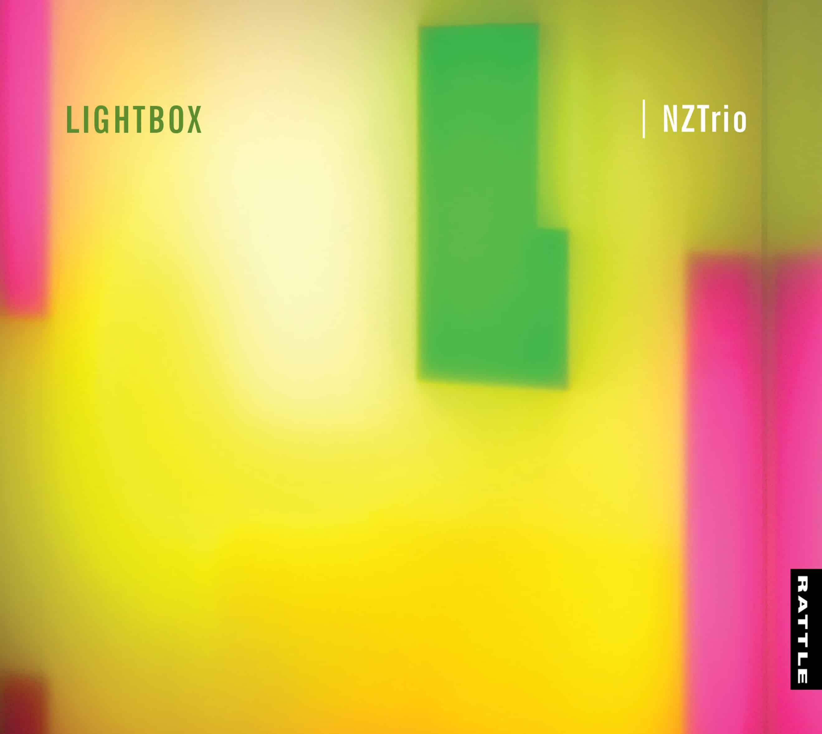 Lightbox NZTrio CD cover featuring music of NZ composers